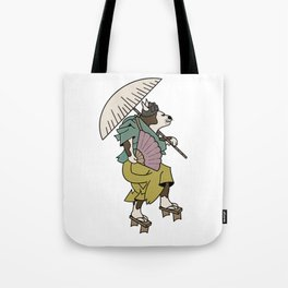 Cat With Ōgi Tote Bag