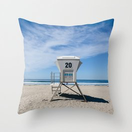 California Beach Day II Throw Pillow