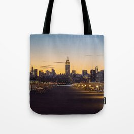 Sunset in New York City (Color) Tote Bag