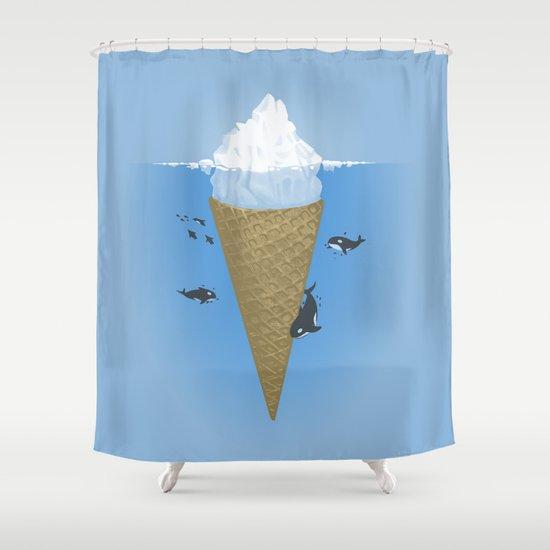 Hidden part of icebergs Shower Curtain