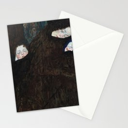 Mother with two children Stationery Cards