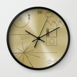 NASA space plaque: Voyager Golden Record (1977) Wall Clock