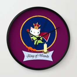 King of Wands Wall Clock