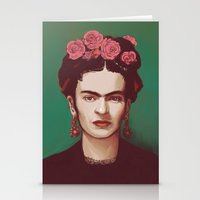 frida Stationery Cards featuring Frida by ravynka