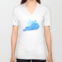 kentucky V-neck T-shirts featuring Kentucky Nocturne by Matthew Taylor Wilson