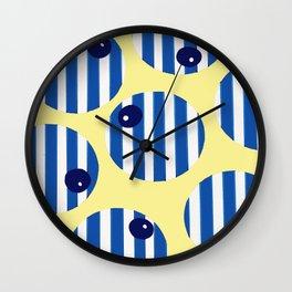 snooker balls in blue Wall Clock