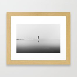 Foggy Lighthouse Framed Art Print