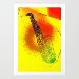 Saxophone Theme #1 Art Print