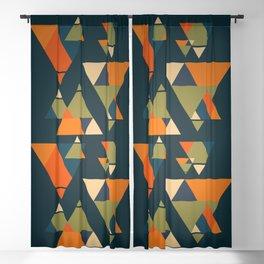 Retro Geometry Blackout Curtain
