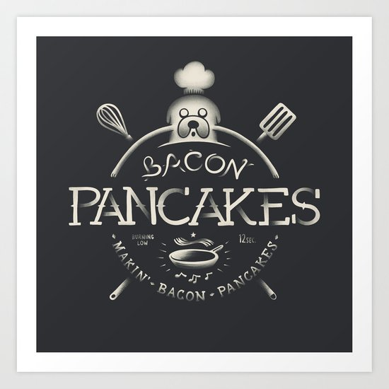 Bacon Pancakes Art Print