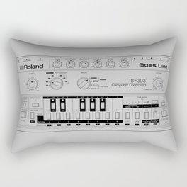 Roland TB-303 Bass Line Wireframe Rectangular Pillow
