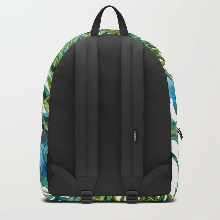 nature leaves exotic watercolor I Backpack