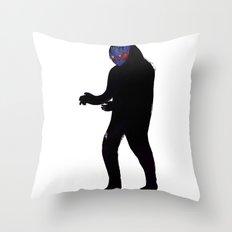 Uomo Nero Throw Pillow