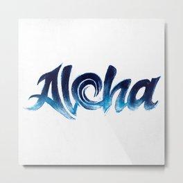 Wave Aloha Metal Print