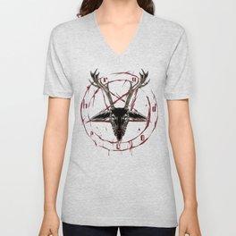 Reindeer Pentagram - Satanic Christmas Unisex V-Neck