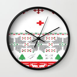 Christmas nurse cna doctor ugly Exclusive ugly Tshirt-sweaters-hoodies Wall Clock