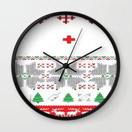 Christmas nurse cna doctor ugly Exclusive ugly Tshirt-sweaters-hoodies Wall Clock
