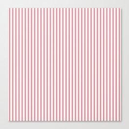 Mattress Ticking Narrow Striped USA Flag Red and White Canvas Print