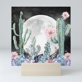 Desert Nights Gemstone Oasis Moon Night Mini Art Print