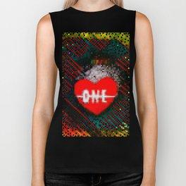 ONE LOVE  Biker Tank