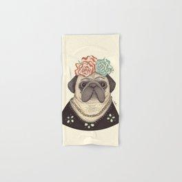 Frida Pug Kahlo Hand & Bath Towel