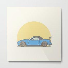 Mazda MX5 Miata vector illustration Metal Print