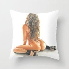 color girl Throw Pillow