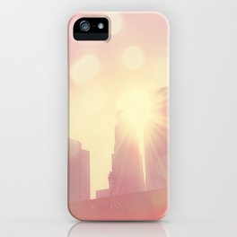 downtown Los Angeles skyline photograph. City of Lights iPhone Case
