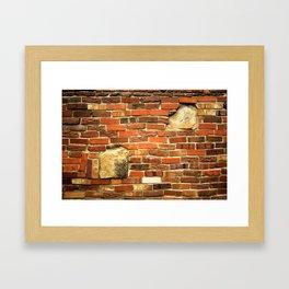 brickwall Framed Art Print