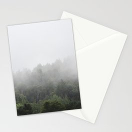 Foggy Forest Mist Landscape Photography | Woods | Nature | Travel | Rustic Stationery Cards