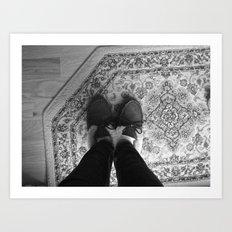 Winter Feet. Art Print