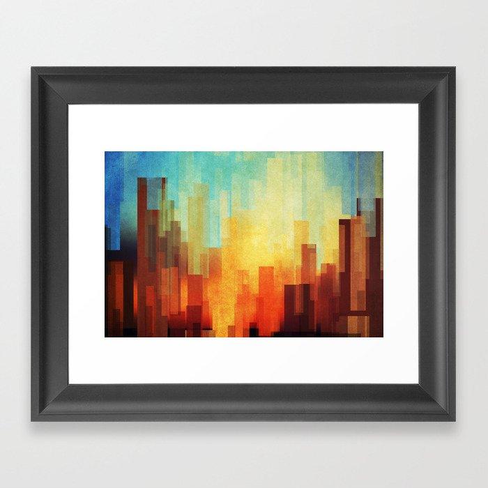 Urban sunset Framed Art Print