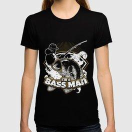 Largemouth Bass Fishing,  I'm A Bass Man T-shirt