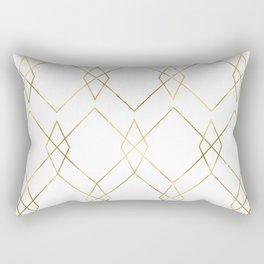 Gold Geometric Rectangular Pillow