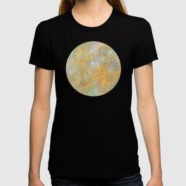 gold arabesque vintage geometric pattern T-shirt