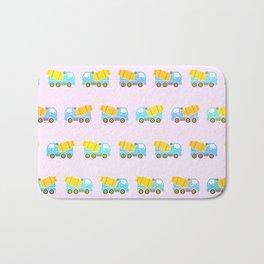 Toy truck pattern Bath Mat