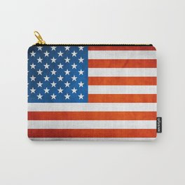 USA Flag Texture Carry-All Pouch