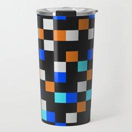 Square Grid III Travel Mug