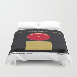 No003 My 2001 A space odyssey 2000 minimal movie poster Duvet Cover