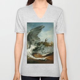 The wounded heron -  George Frederic Watts Unisex V-Neck
