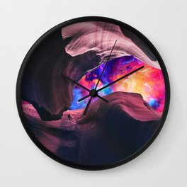Grand Canyon with Colorful Space Collage Wall Clock