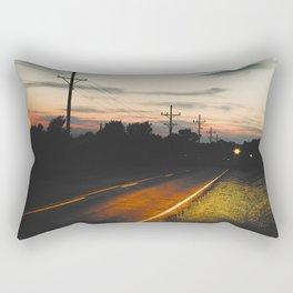 Night on Route 666 Rectangular Pillow