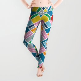 Map Outline 45 Repeat Leggings