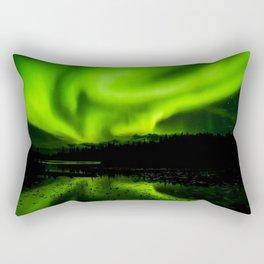 aurora borealis northern lights sky Rectangular Pillow