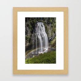 Rainbow Passing Through Narada Falls Framed Art Print