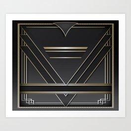 Art deco design IV Art Print