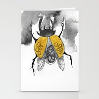 beetle Stationery Cards featuring Beetle by Dnzsea