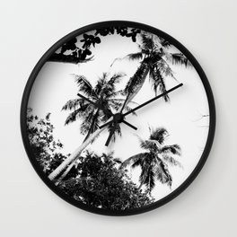 Cave trees Wall Clock