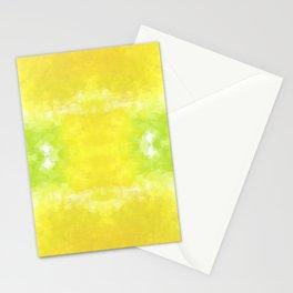 """Lemon jello"" triangles design Stationery Cards"