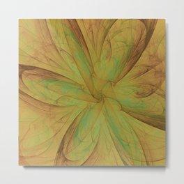 Fall Blossom Fractal Metal Print